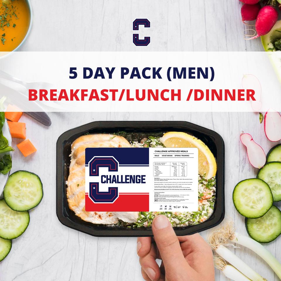 F45 5 Day Pack (Men) – BREAKFAST/LUNCH/DINNER