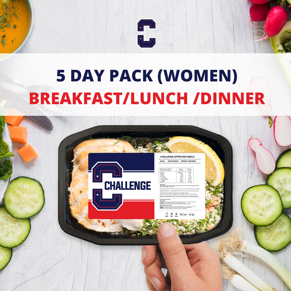 F45 5 Day Pack (Women) – BREAKFAST/LUNCH/DINNER