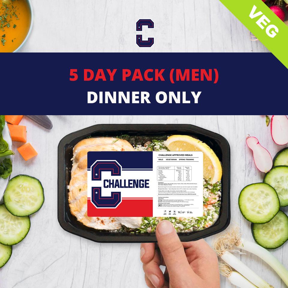 F45 5 Day Pack (Men) – DINNER Veg/Vegan