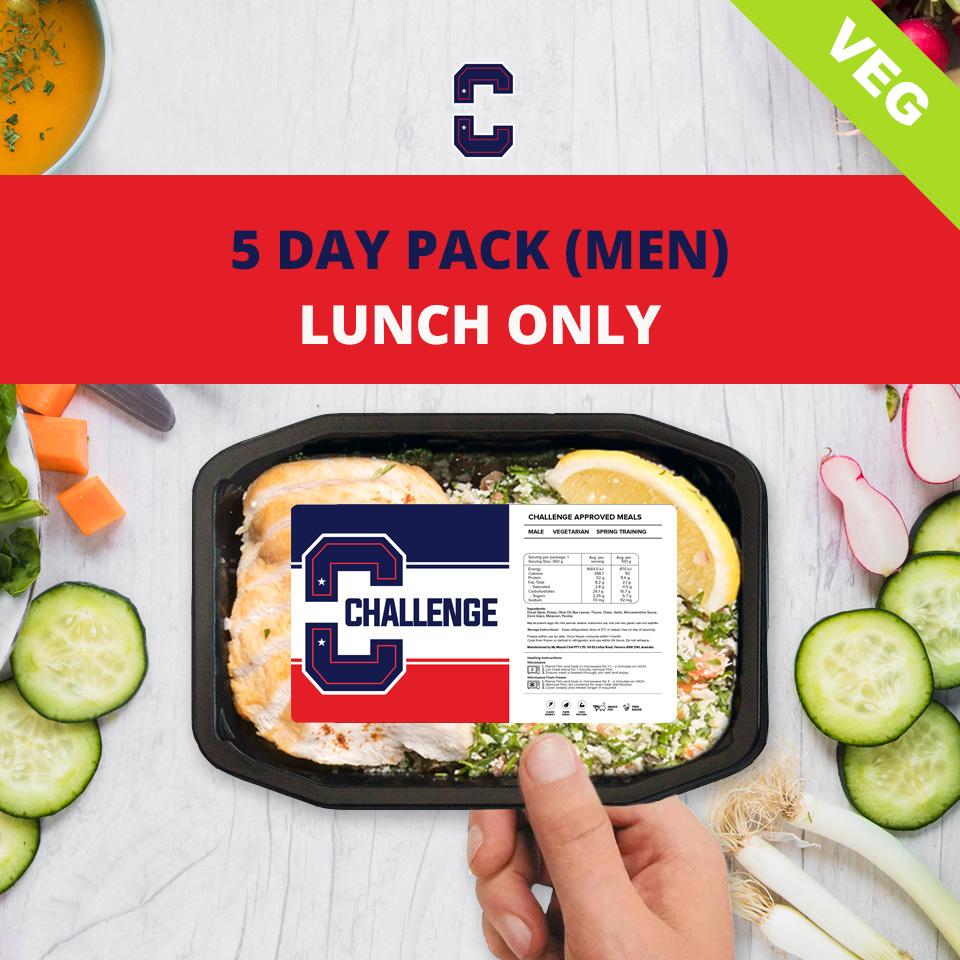 F45 5 Day Pack (Men) – LUNCH Veg/Vegan