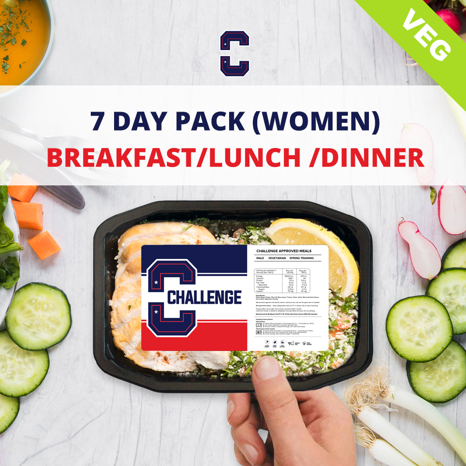 F45 7 Day Pack (Women) – BREAKFAST/LUNCH/DINNER Veg/Vegan