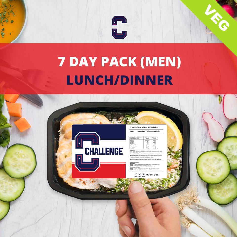 F45 7 Day Pack (Men) – LUNCH/DINNER Veg/Vegan